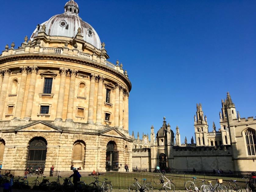 Radcliffe camera, den vackraste delen av Bodleian.